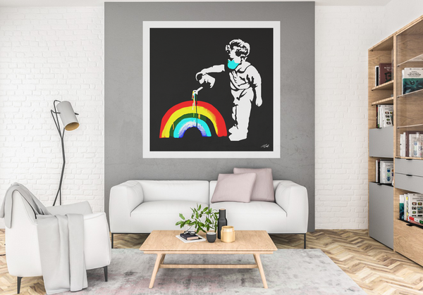 1st Edition 'Rainbow Boy' Hand Signed 1/20 Limited Edition Print (1m sq.)