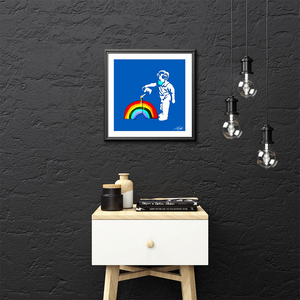 "Limited Edition ""NHS Blue Rainbow Boy"" 40cm x 40cm Fine Art Print"