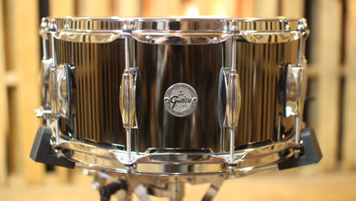 Gretsch 6.5x14 Black Nickel over Steel Snare Drum (video demo)