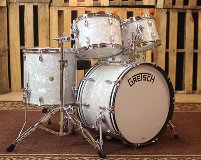 Gretsch Broadkaster 60's Marine Pearl Drum Set - 22,12,13,16,6.5x14