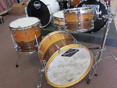 CRAVIOTTO HYBRID STACKED SOLID WALNUT/CHERRY DRUM SET