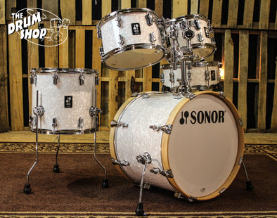 Sonor AQ2 Studio Drum Set, White Marine Pearl