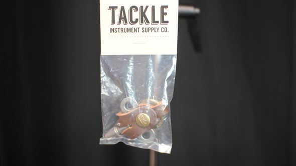 Tackle Timekeepers Drum Key and Leather Case - Raw Steel