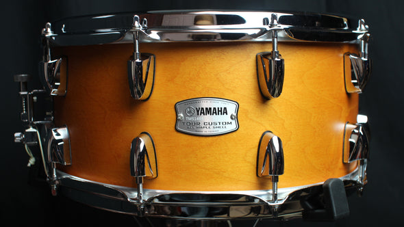 Yamaha Tour Custom Maple 6.5x14 Snare Drum Caramel Satin (video demo)