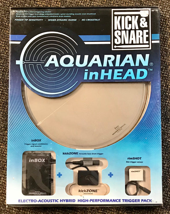 Aquarian inHEAD Kick And Snare Electro-Acoustic Trigger Bundle