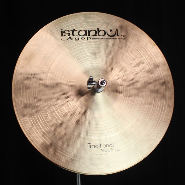 "Istanbul Agop 15"" Traditional Medium Hi Hats - 1126g/1376g"