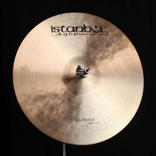 "Istanbul Agop 16"" Traditional Light Hi Hats - 1121g/1289g"