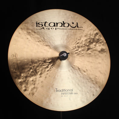 "Istanbul Agop 18"" Traditional Paper Thin Crash - 1224g"