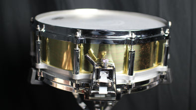 Used Pearl Free Floating Brass Snare Drum 5x14 (video demo) SOLD