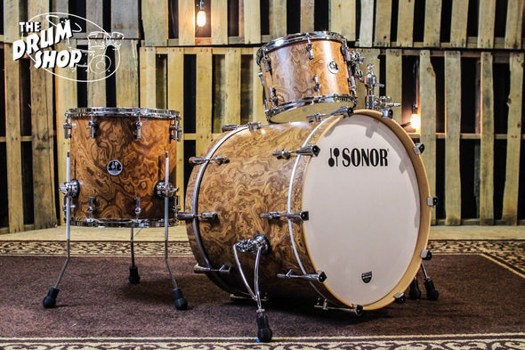 Sonor S Classix 3-Piece Drum Set, Walnut Roots Finish