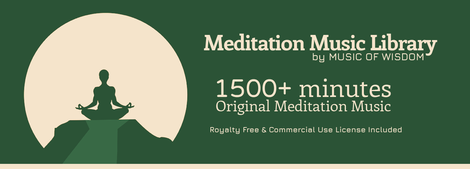Meditation Music Library website featured banner. Over 1500 minutes of royalty free meditation music.