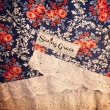American Floral & White Embroidered Cotton