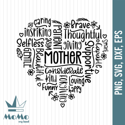 Mothers Day Svg, Mothers Day Design Svg, Word Art Svg, Mother's Gift, Digital Download, Svg