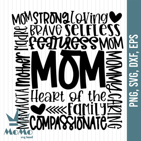 Mom Svg, Mom Subway Art Svg, Mothers Day Svg, Mom Life Svg, Mom Quote Svg, Mom Typography Svg, Mothers Day Svg Designs, Digital Download, Svg