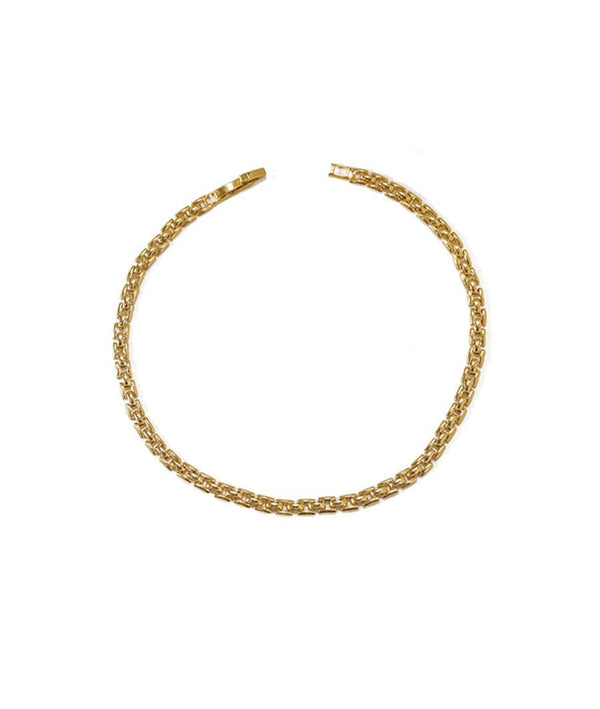 Multi-layer Curb Link Choker & Golden Minimalist Twist Necklace