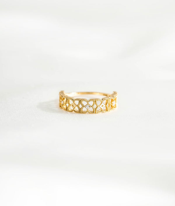 Openwork & Cubic Zirconia | Set Ring