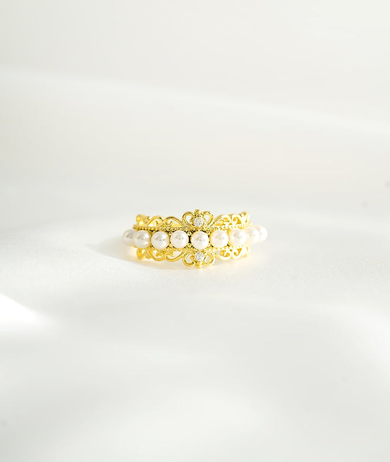 Luxury Pearls Monarch Ring