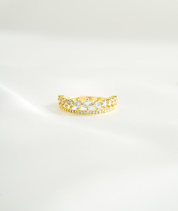 Tiara & Gems | 14K Gold Plated Ring