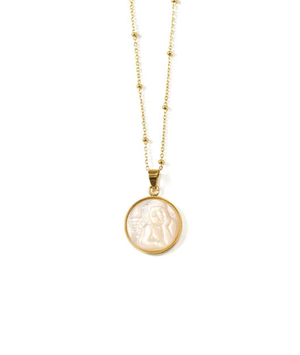Angel Shell Pendant Necklace