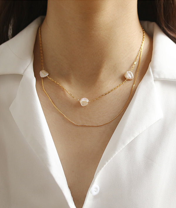 Pearls Double Layer Necklace