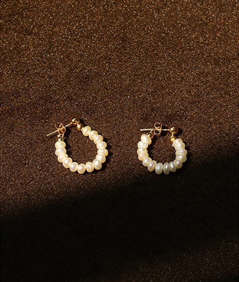 Baroque Natural Pearl Earrings