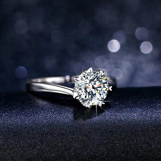 Snow | Twisted Band Diamond Ring (0.5~1.0ct)
