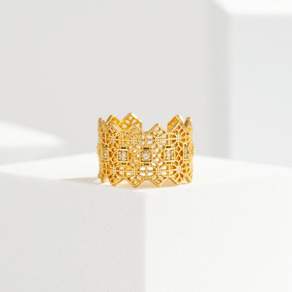 Luxury Crown Vintage Open Ring