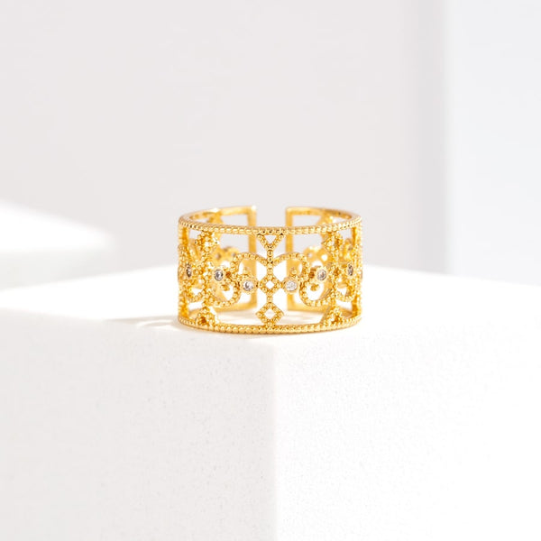 Versailles 14K Gold Plated Open Ring
