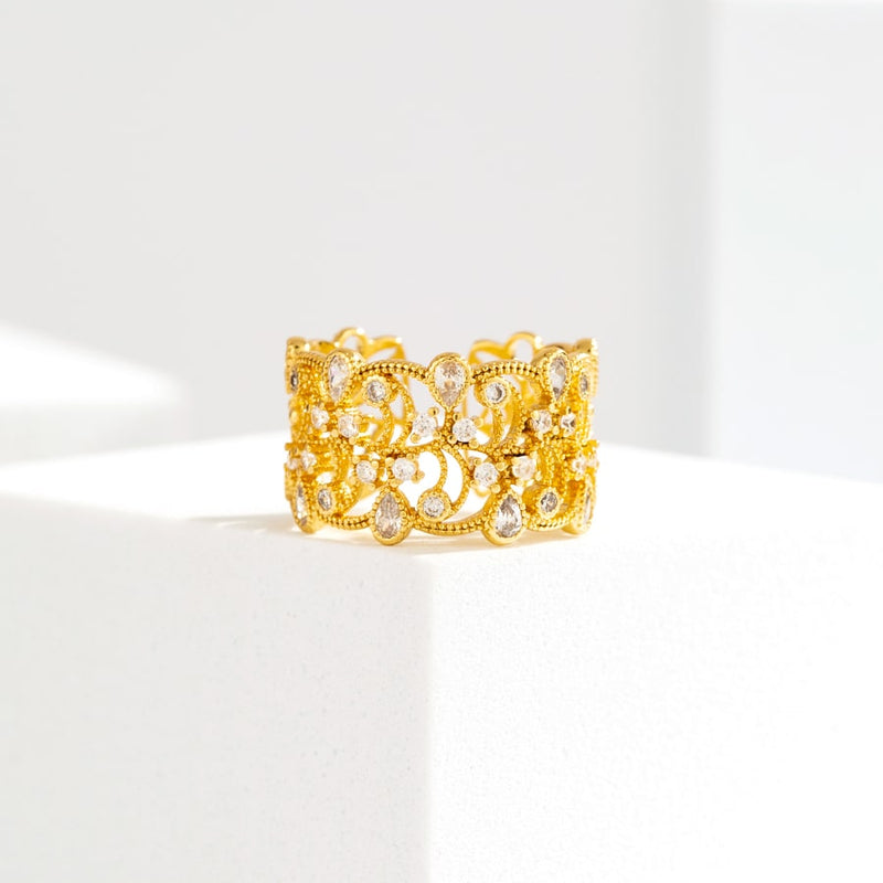 Très Jolie 14K Gold Plated Open Ring