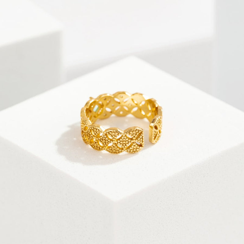 Treasure 18K Gold Plated Ring