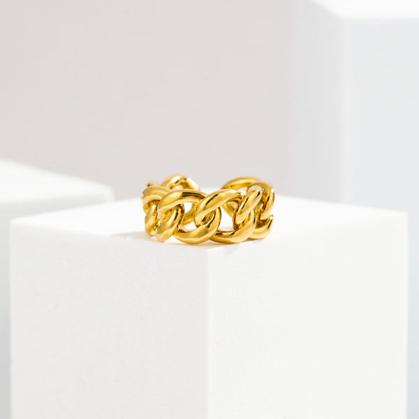 Chunky Layered| 18K Gold Plated Open Ring