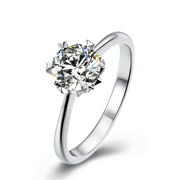 Snow | Straight Band Diamond Ring (0.5~1.0ct)