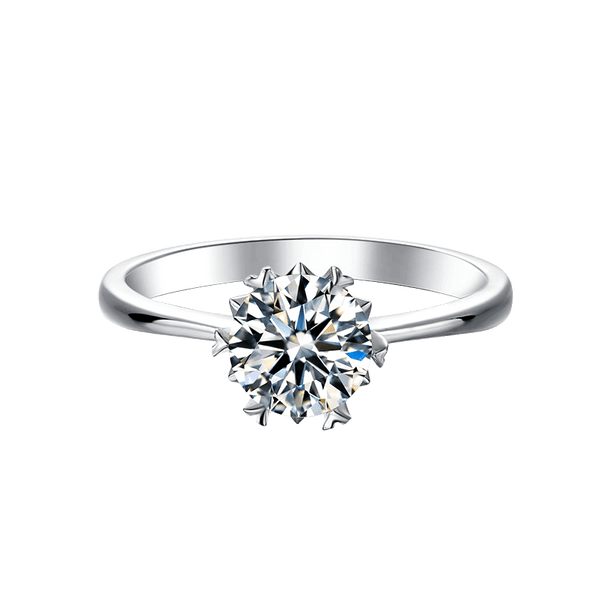 Snow | Straight Band Moissanite Ring (0.5~1.0ct)