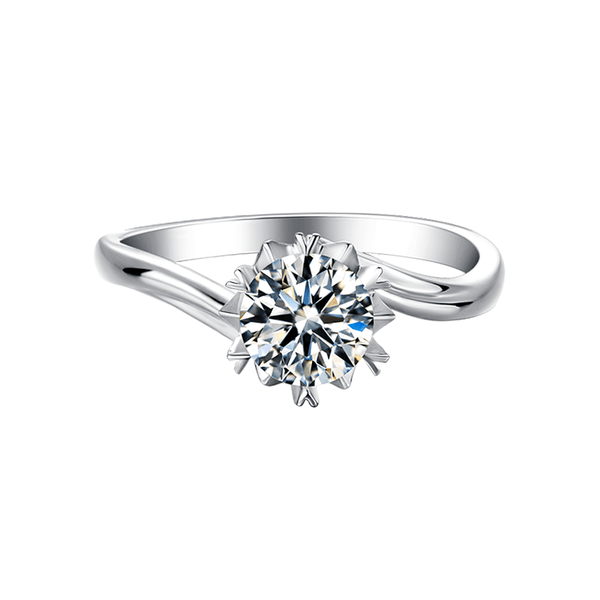 Snow | Twisted Band Moissanite Ring (0.5~1.0ct)