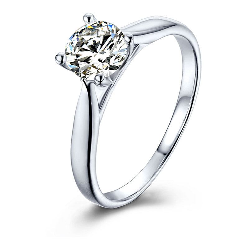 Classic Four-Prong | Solitaire Moissanite Ring (0.5ct)