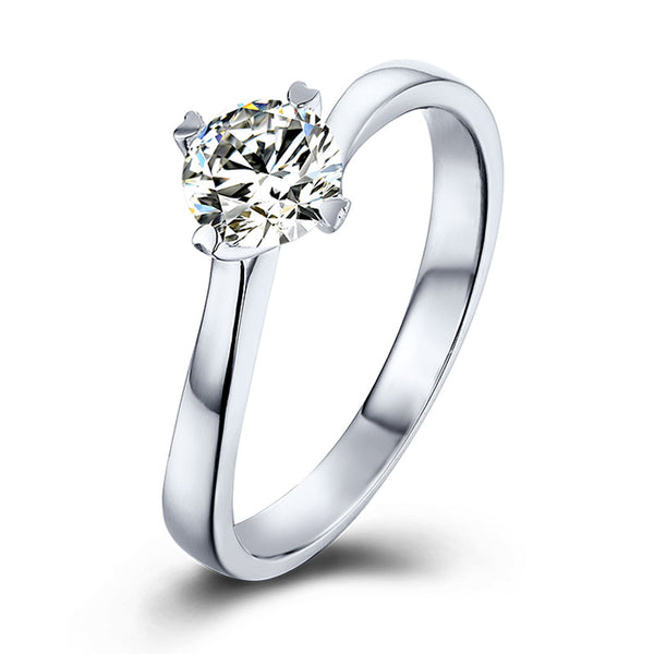 Classic Four-Prong | Twisted Band Moissanite Ring (0.5ct)