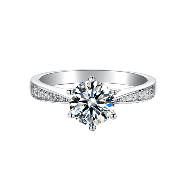 Classic Six-Prong | Zircon Gemstones Band Solitaire Diamond Ring (1.0ct)