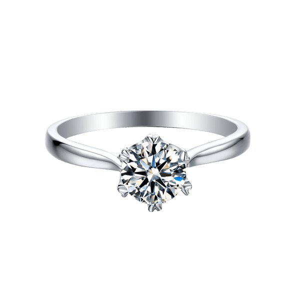 Classic Six-Prong | Solitaire Moissanite Ring (0.5ct)