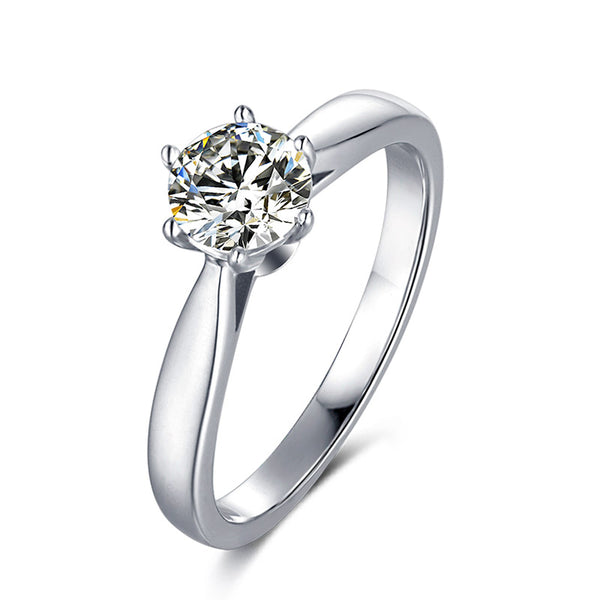 Vogue Six-Prong | Solitaire Moissanite Ring (0.5ct)