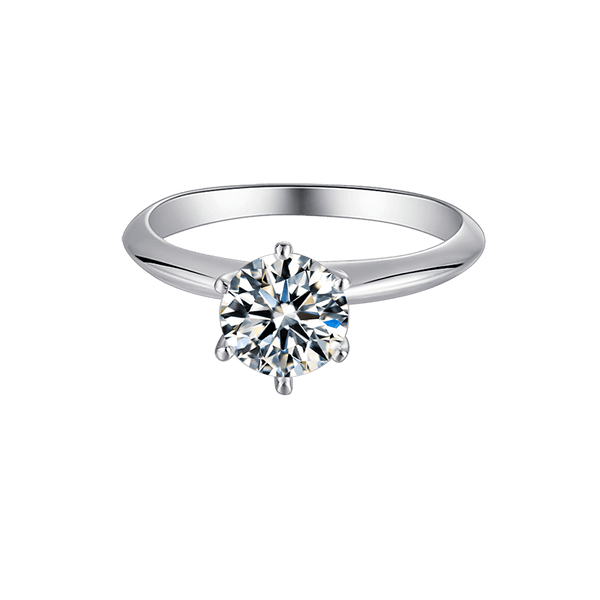 T Style Six-Prong | Solitaire Moissanite Ring (0.5~3ct)