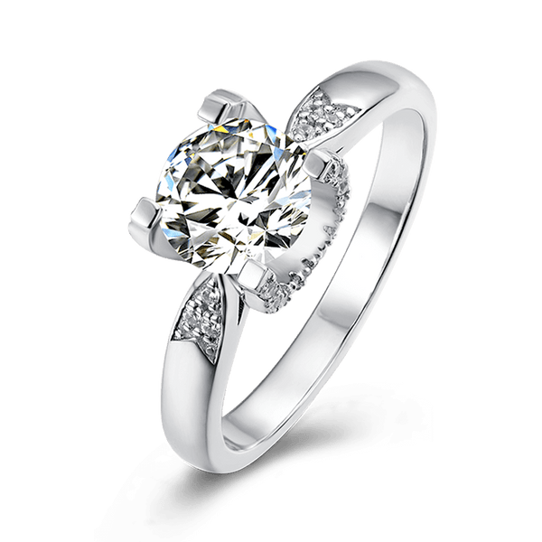 Tauren | Zircon Gemstones Dovetail Band Diamond Ring (1.0ct)