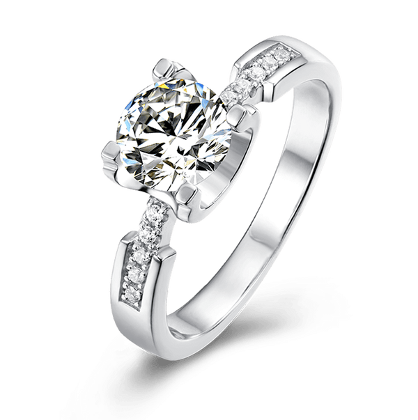 Tauren | Zircon Gemstones Band Diamond Ring (0.5~1.0ct)