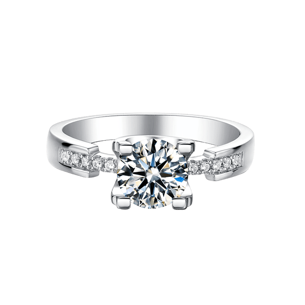 Tauren | Slim Waist Moissanite Ring (0.5~1.0ct)