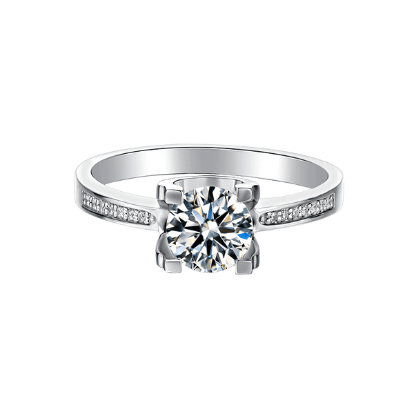 Tauren | Zircon Gemstones Straight Band Diamond Ring (1.0ct)