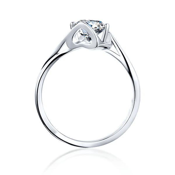 Angel's Kiss | Solitaire Moissanite Ring (1.0ct)