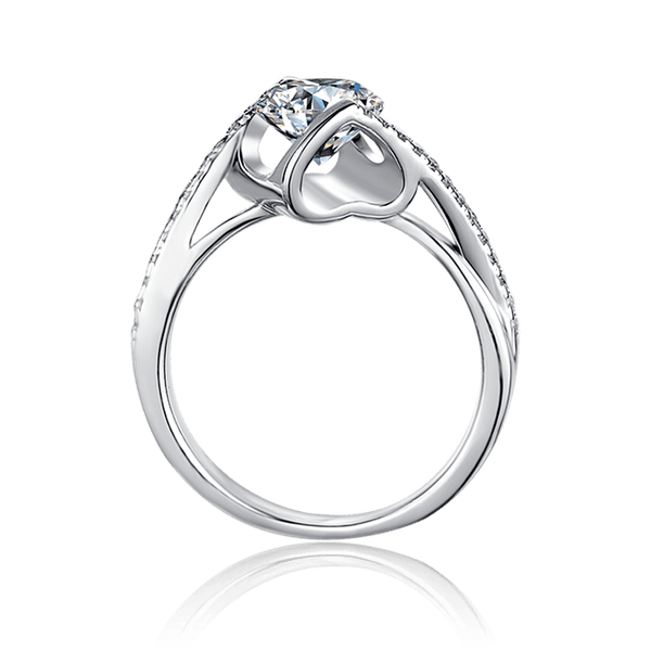Angel's Kiss | Zircon Gemstones Band Diamond Ring (1.0ct)