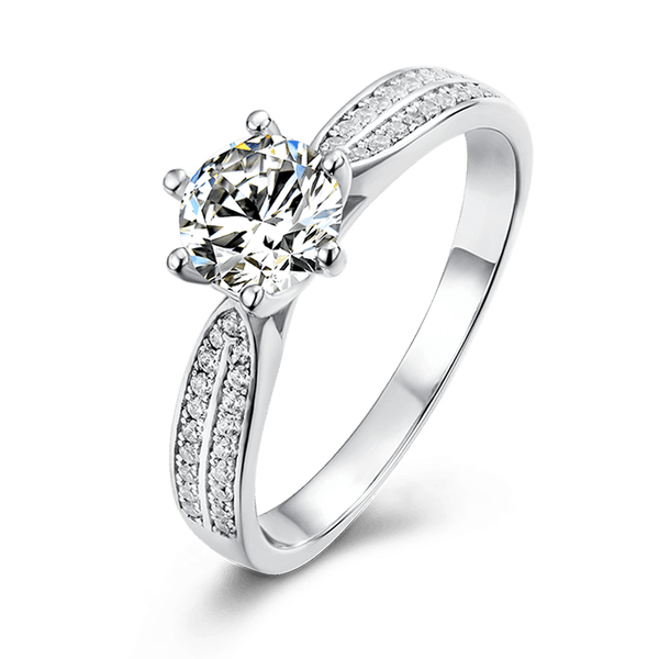Starlight Queen | Zircon Gemstones Band Diamond Ring (0.5~1.0ct)