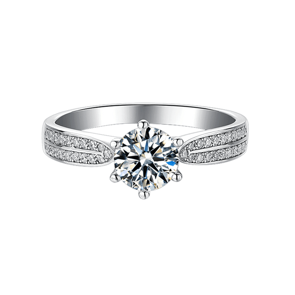 Starlight Queen | Zircon Gemstones Band Moissanite Ring (0.5~1.0ct)