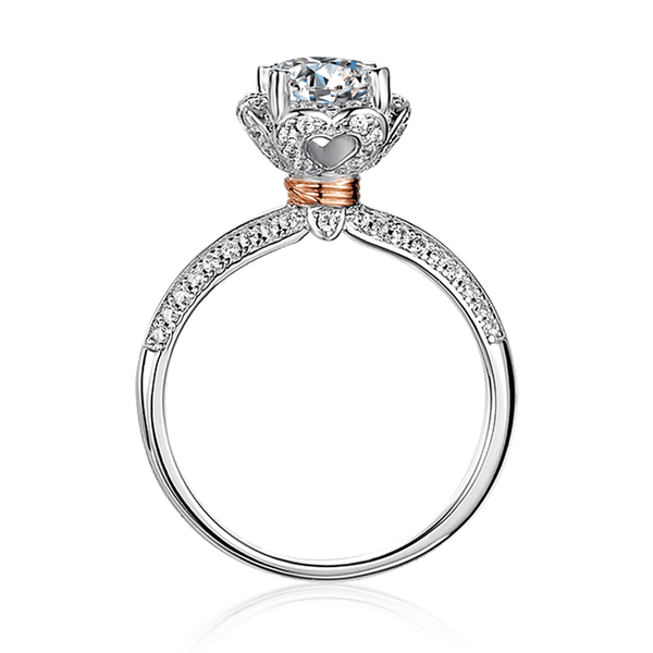 Bouquet | Zircon Gemstones Band Moissanite Ring (1.0ct)