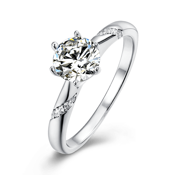 Tesiro | Zircon Gemstones Band Diamond Ring (0.5~1.0ct)